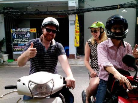 seeing hanoi on motorbike